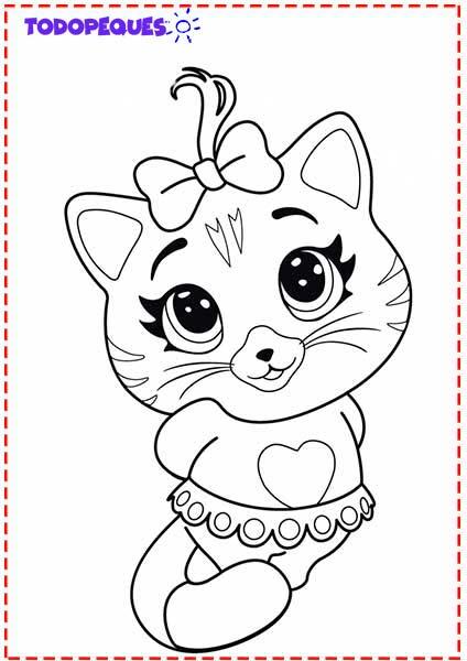 dibujos de 44 gatos para imprimir