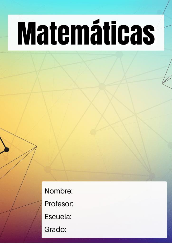 portada para matemáticas