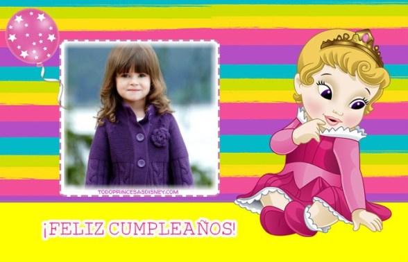 cumpleanos infantiles princesas editar fotos