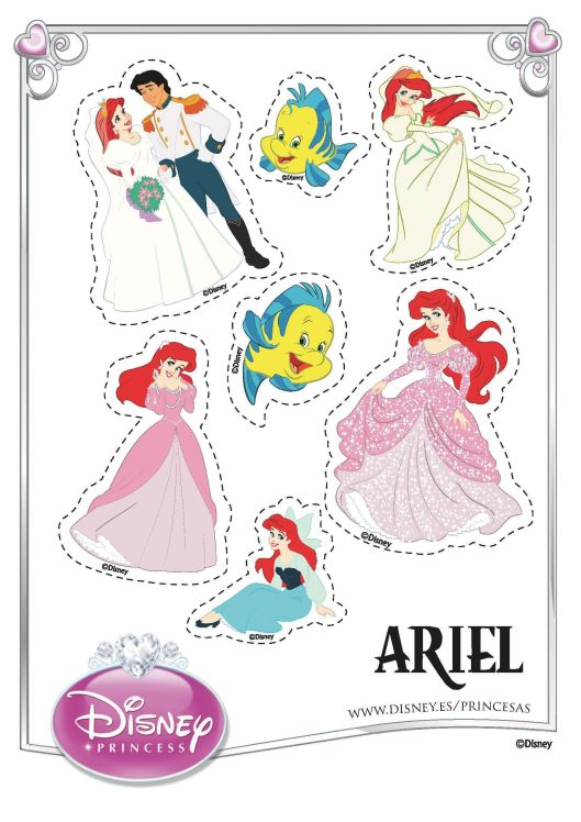 Stickers la Sirenita Ariel