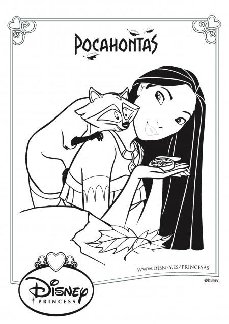 Pocahontas Dibujos para colorear