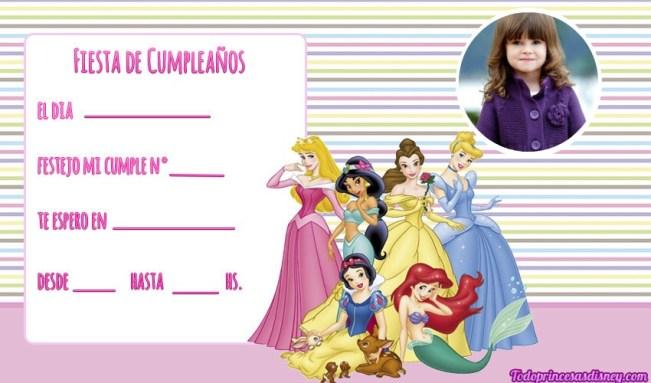 Princesas Disney tarjetas con Foto