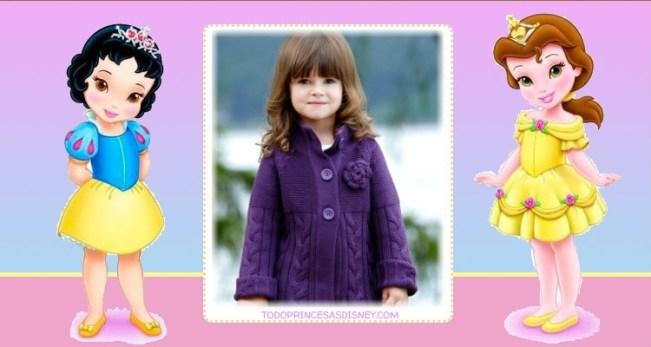 Editar fotos princesas disney bebes