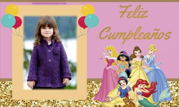 Feliz Cumpleanos Princesas Disney