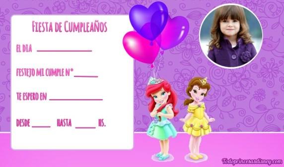 Princesas bebes Tarjetas Fiesta