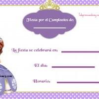 Invitaciones de Cumpleaños con Sofía la Princesita