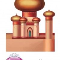 Castillo de Princesa Jasmin - Aladdin- para imprimir y armar