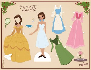 BELLE BEAUTY AND THE BEAST PAPER DOLL