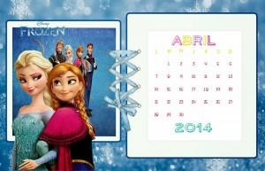 Calendario 2014 abril