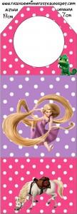 Rotula botella Rapunzel