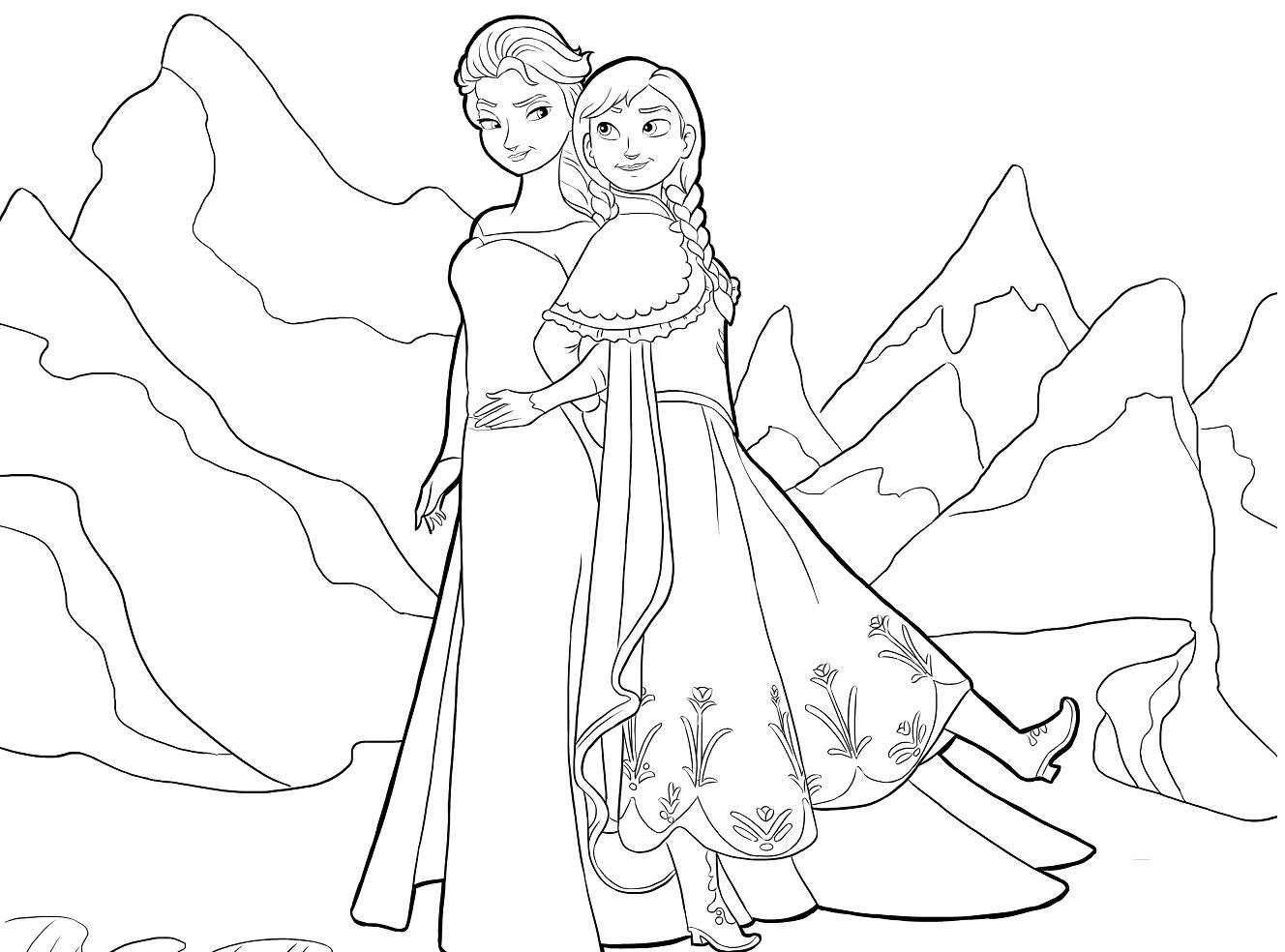 Dibujos De Frozen Para Pintar Princesas Disney