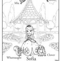 Dibujos para imprimir y colorear de Princesa Sofía
