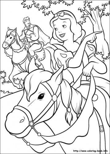 Bruja blancanieves para pintar