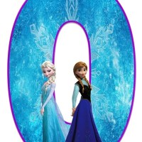 Números de Frozen para Imprimir Gratis