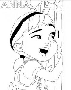 Nuevos Dibujos De Elsa Y Anna Para Colorear Princesas Disney
