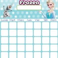 Horario de Clase de Frozen para descargar gratis