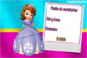 Tarjetas De Cumpleaños De Princesa Sofia Princesas Disney