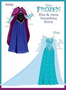 Vestidos De Elsa Y Anna Frozen Para Imprimir Princesas Disney