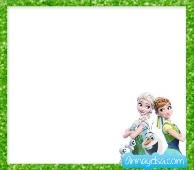 Tarjeta Elsa y Anna 2