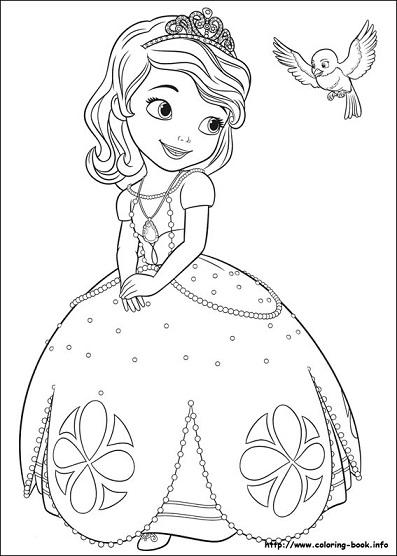Colorear a Princesita Sofia y sus animales