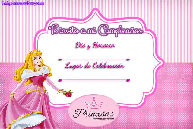 Invitaciones de Cumpleaños de Aurora La Bella Durmiente