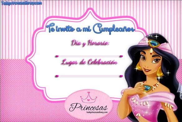 Invitaciones de Cumpleaños de Jasmín Aladdin