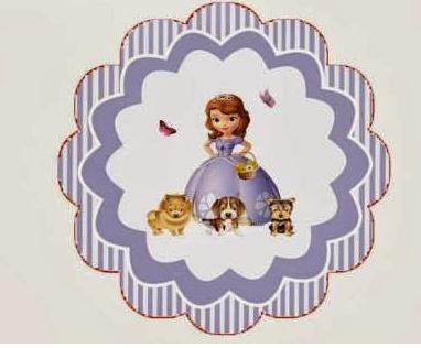 Adorno porta cupcakes de Princesita Sofía -