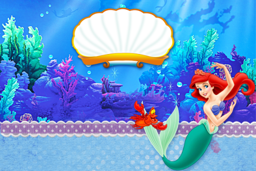 Kit digital de La Sirenita para imprimir gratis - Cumpleaños La Sirenita Ariel. Princesas Disney