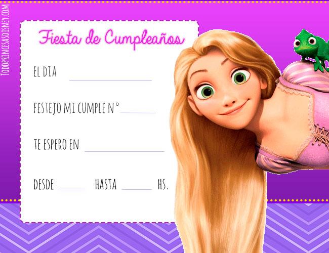 Tarjetas d Rapunzel cumpleanos princesas disney