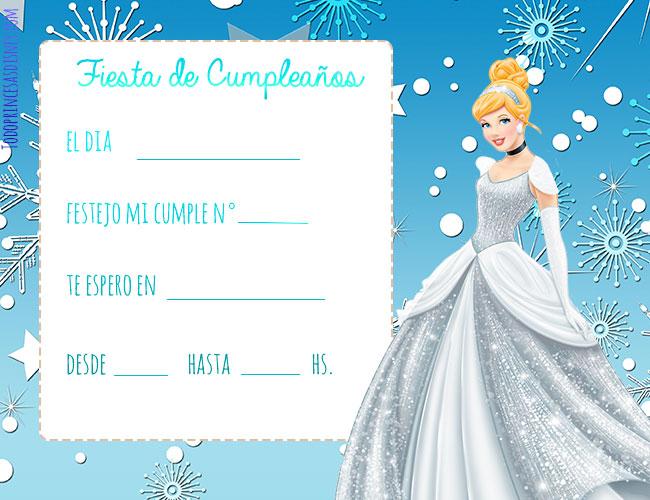 Tarjetas de cumpleanos de Princesas Disney