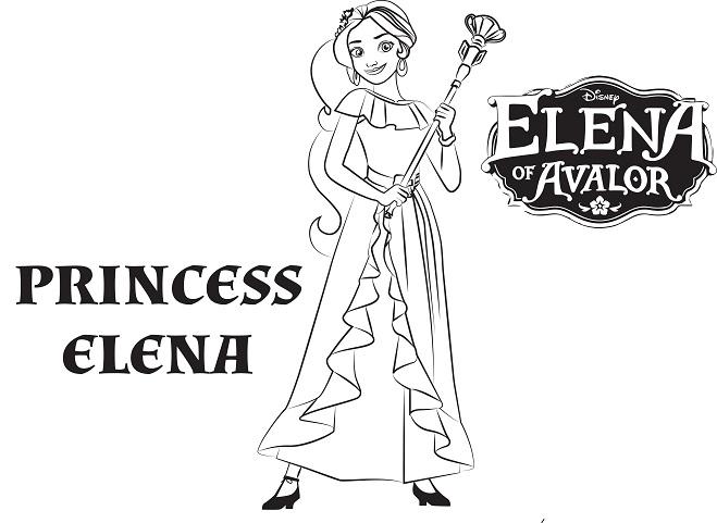 Elena De Avalor Dibujos Para Colorear Princesas Disney