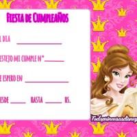 Tarjetas, Invitaciones de Cumpleaños de Bella y Bestia