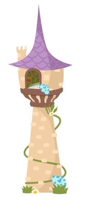 moldes castillo enredados rapunzel