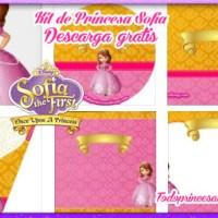 Decoración de Princesa Sofía, Kit para imprimir gratis