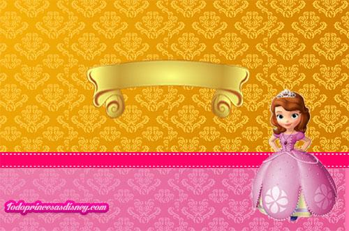Decoración De Princesa Sofía Kit Para Imprimir Gratis