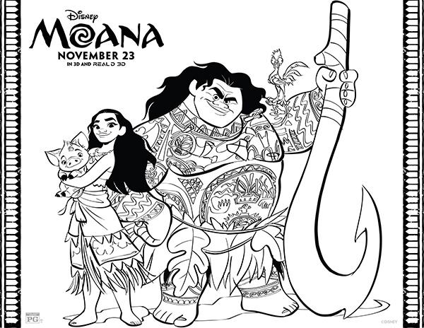 Dibujos De Moana Para Colorear Princesas Disney