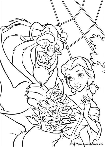 Dibujos De Bella Y Bestia Para Colorear Princesas Disney