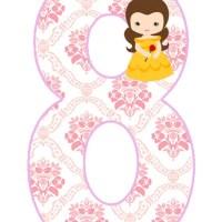 Números de Princesa Bella bebé para Descargar Gratis