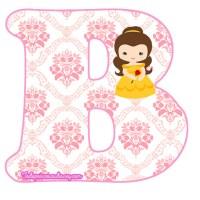 Letras Abecedario Princesa Bella bebé