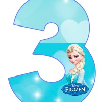 Números de Frozen para imprimir