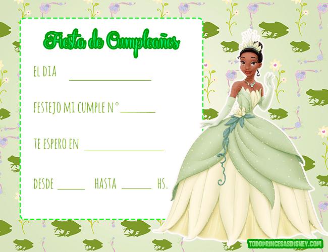 Invitaciones-de-La-Princesa-y-EL-Sapo-cumpleanos---Princesa-tiana-tarjetas