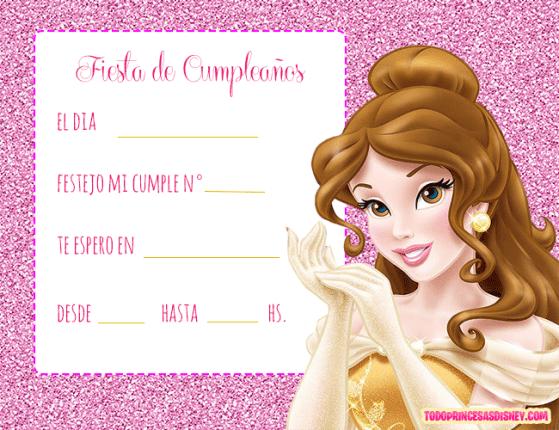 Tarjetas-Princesa-Bella-Invitaciones-Princesa-Bella
