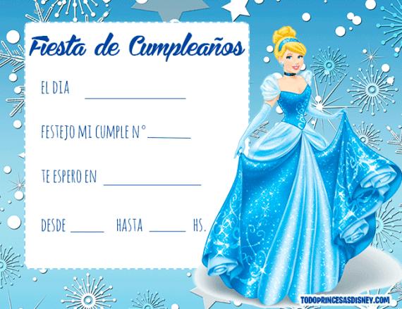 Cinderella invitaciones cumpleanos