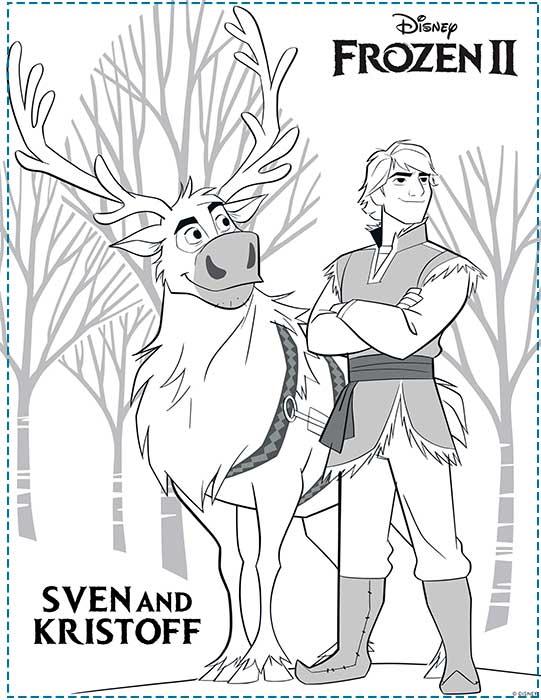 Anna y Elsa Frozen 2 dibujos para imprimir