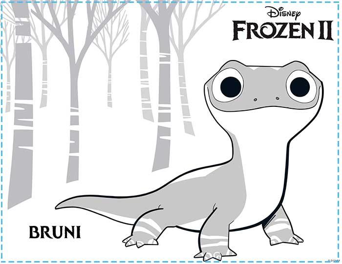 Dibujos para colorear frozen 2