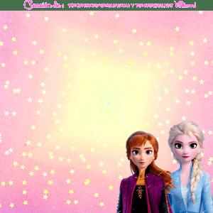 Etiquetas Frozen 2 tarjetas
