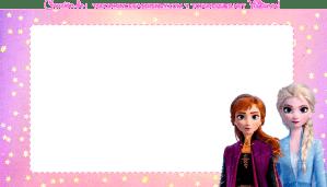 Frozen 2 etiquetas elsa y anna