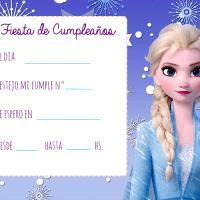 Invitaciones de Cumpleanos de Frozen 2