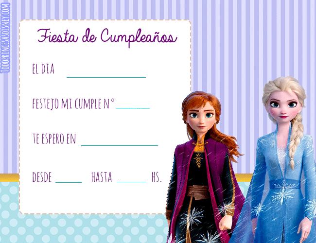 Tarjetas de Elsa y Anna Frozen 2