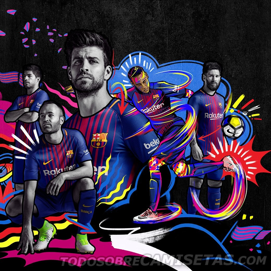 Equipación Nike De Fc Barcelona 201718  Todo Sobre Camisetas
